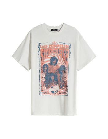 Led Zeppelin print short sleeve T-shirt - New - Woman   Bershka