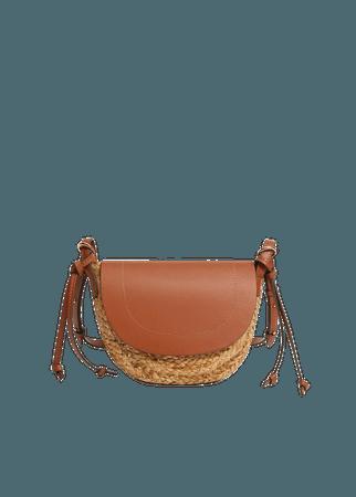 Jute cross-body bag - Women | Mango USA