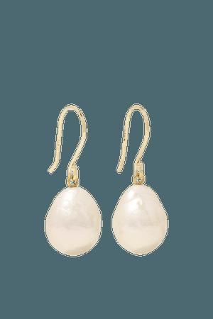 Gold 14-karat gold pearl earrings | Mizuki | NET-A-PORTER