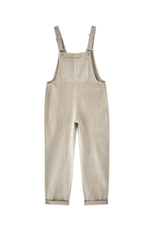 Long oversized denim overalls - at least 50% ecologically grown cotton - pull&bear
