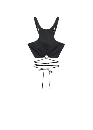 Bow crop top - Women | Mango USA
