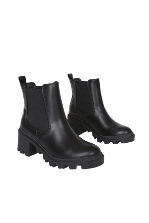Black Ankle Boots - Chunky Platform Boots - Trendy Chelsea Boots - Lulus
