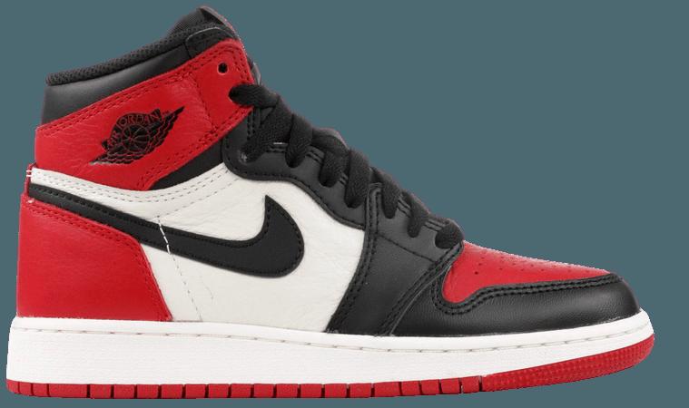 "Air Jordan 1 Retro High Og Bg (gs) ""Bred Toe"" - Air Jordan - 575441 610 - gym red/black-summit white | Flight Club"