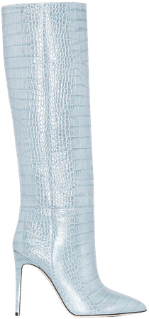 Shop blue Paris Texas crocodile-effect 100mm knee-high boots with Express Delivery - Farfetch