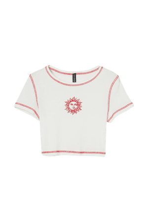 Crop Top - White/sun - Ladies | H&M US