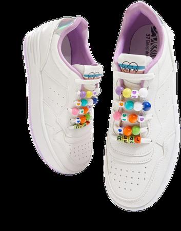 Sneakers with decorative iridescent heel detail. - Shoes - Woman | Bershka