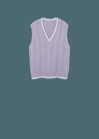 Cable-knit vest - Women   Mango USA