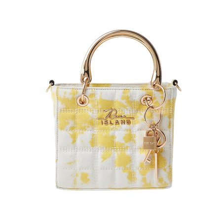Yellow square quilted tote bag | River Island