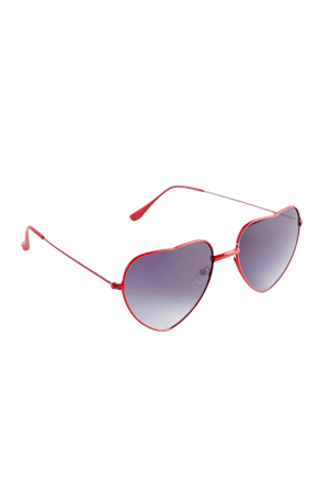 Heart Eyes Metal Sunglasses   Urban Outfitters