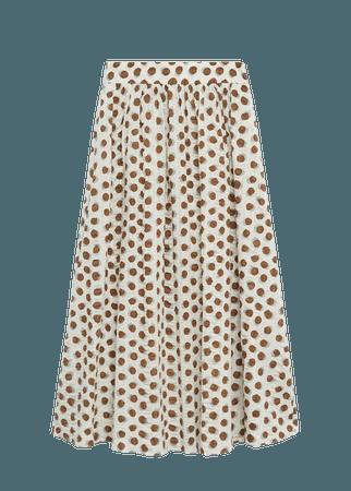 Printed cotton skirt - Women | Mango USA