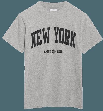 ANINE BING Lili Tee University New York - Heather Grey