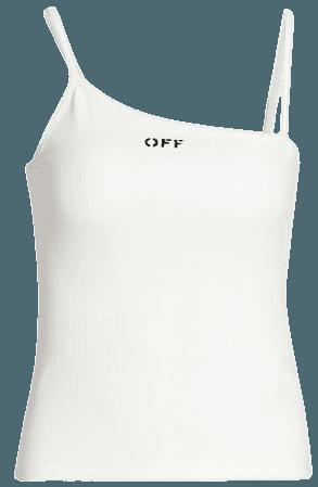 Off-White Basic Ribbed Tank Top | SaksFifthAvenue