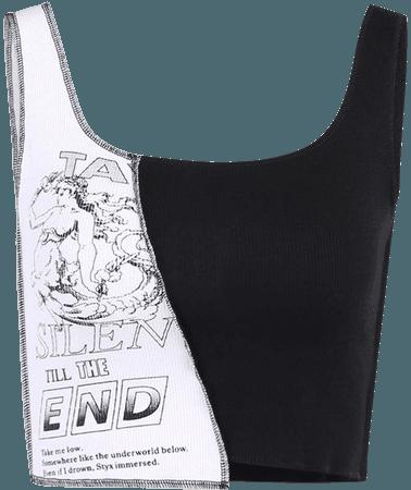 Goth Punk Patchwork Crop Top Grunge – algrandeboutique