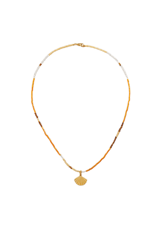 Beads pendant necklace - Women | Mango USA