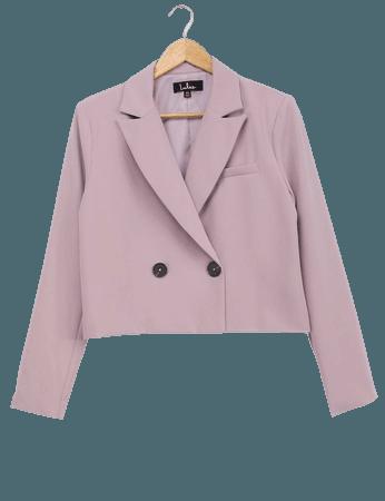 Lilac Blazer - Cropped Blazer - Button-Up Blazer - Lulus