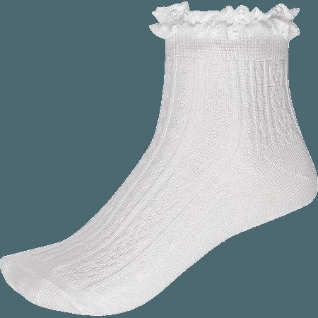 White frilly ankle socks women's tights socks 674899