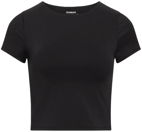 Body Contour Double Layer Cropped Tee | Express
