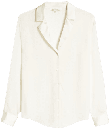 Endless Rose Satin Combo Long Sleeve Blouse | Nordstrom