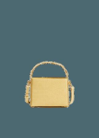 Croc-effect mini bag - Women | Mango USA