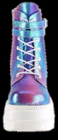 SHAKER-52 Purple Multi Iridescent Boots - Tragic Beautiful