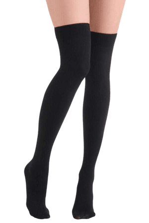 Knee-High Black Socks