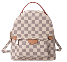 'Emma' Canvas Checked Mini Backpack (3 Colors) - Goodnight Macaroon
