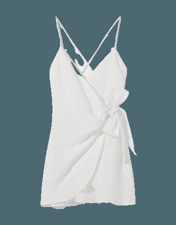 Short linen wrap dress - Dresses - Woman | Bershka