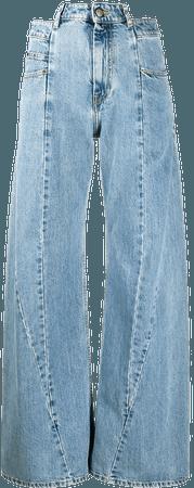 Maison Margiela Décortiqué wide-leg Jeans - Farfetch