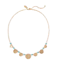 Beaded Disc Statement Necklace