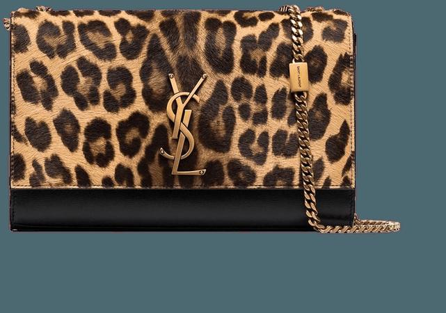 Saint Laurent Kate leopard-print Shoulder Bag - Farfetch