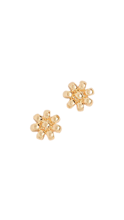 Madewell Brass See Bead Flower Studs   SHOPBOP