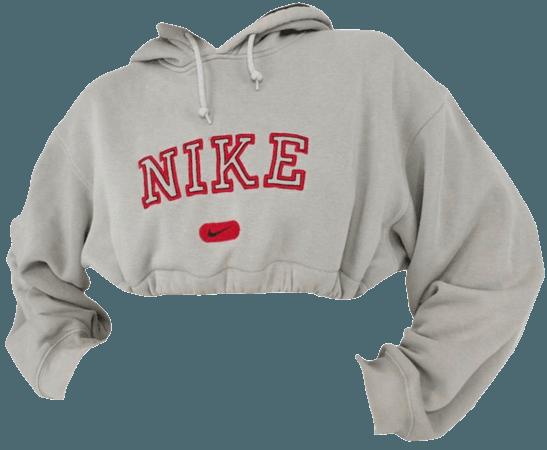 Nike cropped hoodie png