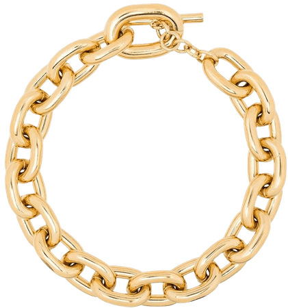Paco Rabanne Xl Hoop Necklace In Golden Aluminum