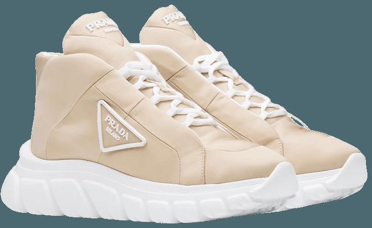 Prada Logo Plaque lace-up Sneakers - Farfetch