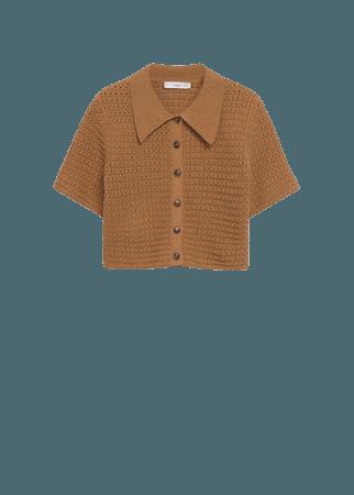 Openwork knit top - Women | Mango USA