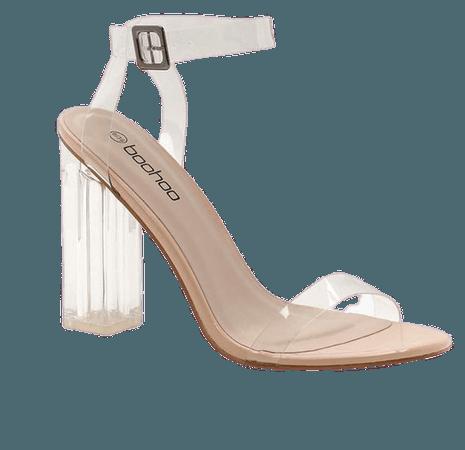Clear 2 Part Block Heels | boohoo