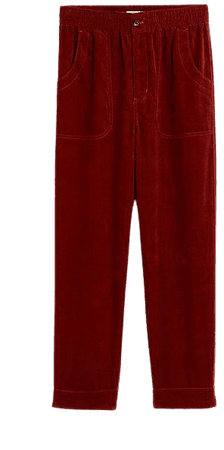 Tapered Huston Pull-On Crop Pants in Corduroy