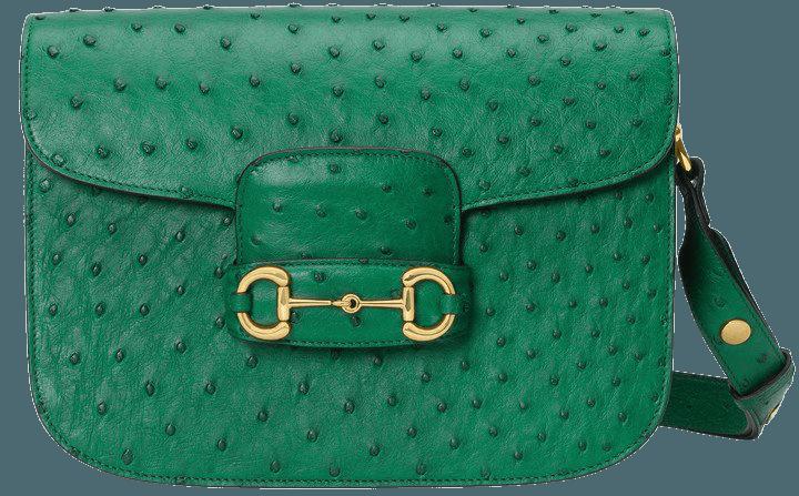 1955 Horsebit Ostrich Shoulder Bag