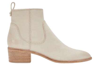 ABLE BOOTIES IN IVORY NUBUCK – Dolce Vita