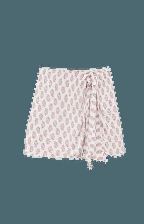 Printed wrap skirt - pull&bear