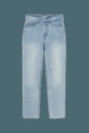 Slim High Ankle Jeans - Blue