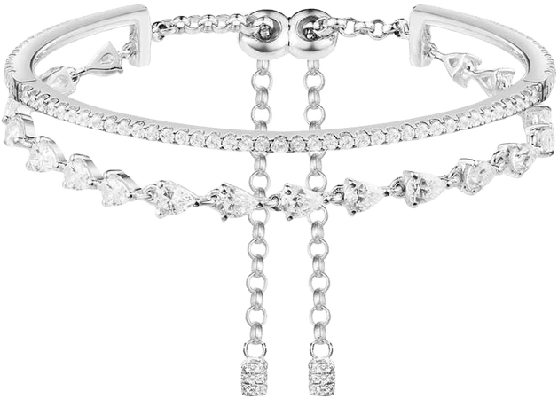 Soiree Silver Double Bracelet
