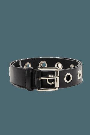 Black Eyelet Belt | Accessories | PrettyLittleThing USA