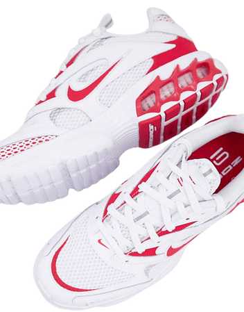 Nike Zoom Air Fire sneakers in white/university red   ASOS