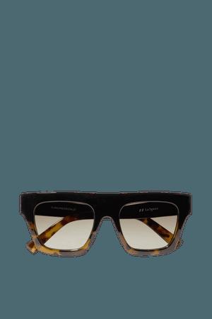 Black Subdimension D-frame tortoiseshell acetate sunglasses   Le Specs   NET-A-PORTER