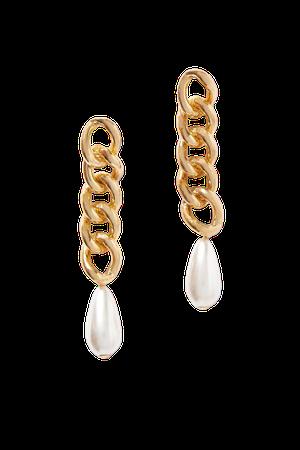 Gold Gold-tone faux pearl earrings   Rosantica   NET-A-PORTER