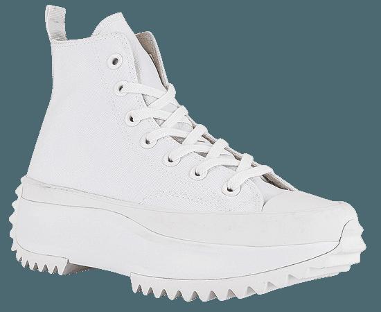 Converse Run Star Hike Platform All White Sneaker in White | REVOLVE