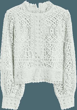 Amy Lynn Crochet Lace Balloon Sleeve Blouse | Nordstrom