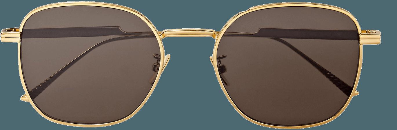 Gold Light Ribbon square-frame gold-tone sunglasses   Bottega Veneta   NET-A-PORTER