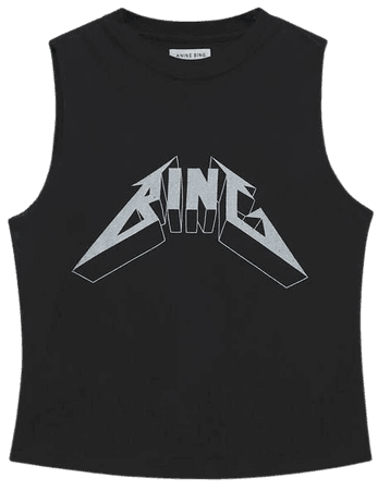 ANINE BING Lennon Tee Bing - Black